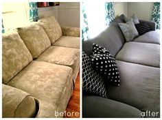 High Heels and Training Wheels: DIY Couch Reupholster With a Painter's Drop Cloth   Part 1: The Frame