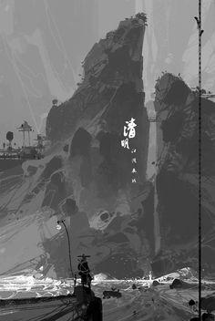 2018 4 2 by Digital Art Masters: Volume 6 (artissimo) – Art Sanat Landscape Concept, Fantasy Landscape, Landscape Art, Fantasy Art, Environment Concept Art, Environment Design, Kung Fu, Composition Art, Karate