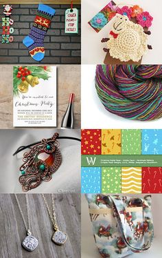 Colorful joy for Christmas by Dana on Etsy--Pinned with TreasuryPin.com
