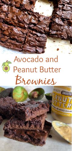 These Avocado and Peanut Butter Brownies are gooey, delicious and sooo much better for you then traditional brownies. High Fat Foods, Fussy Eaters, Healthy Weight Gain, Peanut Butter Brownies, Baking Tins, Kids Meals, Yummy Treats, Food Processor Recipes, Avocado