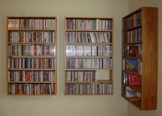 wall mounted bookshelves! ahhh.