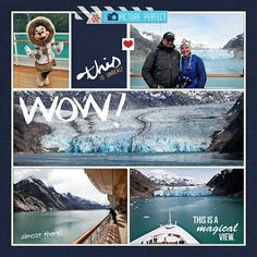 Alaskan glaciers - right pg. - Scrapbook.com