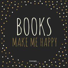 Books make me happy! :D