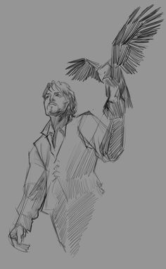 """The Musketeers fan art - Athos, via agarthanguide on Tumblr: """"Sketch of Athos I probably won't finish."""""""