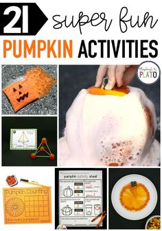 Fun Halloween activities for your Pre-k, Kindergarten, or Grade One that make great pumpkin themed literacy, math, or science projects early learners will love. #halloweenactivities #prek #kindergarten #gradeone