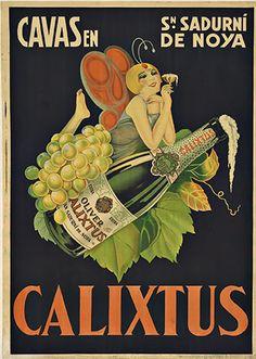 Cava Calixtus, 19.. #Bubbly #VintageChampagne #BubblyLady