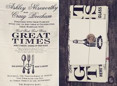 LOVE THIS: Invitation on a tea towel for people to use!!