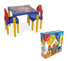 0495.5 - Mesinha Oficina de Criações | Receba seus amiguinhos e inicie a diversão com a mesinha da Xalingo. Fabricada em plástico injetado e com pés desmontáveis que facilitam o transporte. Vem acompanhada de duas cadeirinhas. | Faixa Etária: +3 anos | Medidas: 51 x 15 x 53 cm | Jogos e Brinquedos | Xalingo Brinquedos | Crianças