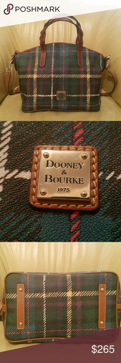 🔥🔥Dooney & Bourke Purse🔥🔥 Dooney & Bourke Plaid Multi Color Bag. Comes with removable and adjustable strap. Does have small minor wear (see 4th picture for example). A very roomy bag. Any questions, please ask me. I welcome all offers. Again, I welcome all offers. No matter the amount. I try to be as reasonable and negotiable as possible. I want my customer to be pleased and hopefully you'll shop again : ) Thanks so much for stopping by!!!!!!!!!! Dooney & Bourke Bags Satchels