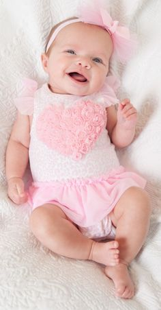 Heart Tutu Onsie with matching bow