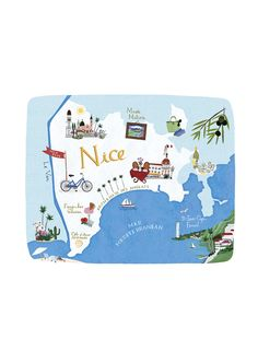 Anne Smith - Map of Nice