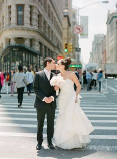 Contemporary Loft-Style New York Wedding at Studio 450 - MODwedding