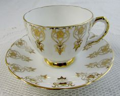 Hey, I found this really awesome Etsy listing at https://www.etsy.com/listing/268636845/vintage-tea-cup-and-saucer-with-gold