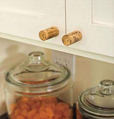 Craftsman Style Home Decorating Ideas: Cabinet Hardware - Craftsman Style Home Decorating Ideas - Southern Living Cabinet Knobs, Cabinet Hardware, Door Knobs, Cupboard Handles, Door Handles, Pull Handles, Wine Craft, Wine Cork Crafts, Wine Cork Projects