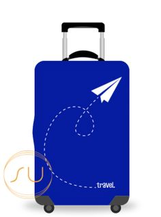 Suitcase Protector Water Architecture Sky Boat Town Building Luggage Cover Fits 26-28 Inch Accessories Elastic Travel