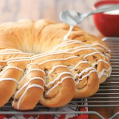 Christmas Wreath Bread Recipe from Taste of Home -- shared by Agnes Ward of Strattford, Ontario