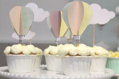 Cupcakes festa Balões de Ar Quente
