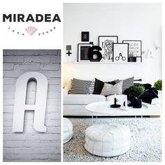Betű Trendy betűtípussal, fehér | Miradea Gallery Wall, Home Decor, Decoration Home, Room Decor, Home Interior Design, Home Decoration, Interior Design