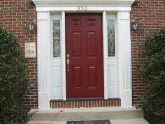 Front door after exterior paint