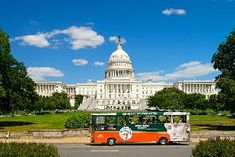 Washington DC Hop-On Hop-Off Trolley, Arlington National Cemetery + Water Taxi Washington Dc Attractions, Washington Dc Tours, Dc Monuments, Short Vacation, Us Capitol, Tour Tickets, Dc Travel, National Mall, National Cemetery