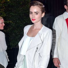 Lily Collins looked easy and breezy in a maxi skirt. See the full look!