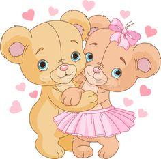 Teddy bears in love - ilustração de vetor por Anna Velichkovsky (Dazdraperma) - Stockfresh #2475107
