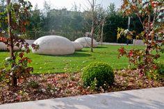 Pebbles by concrete
