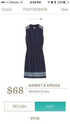 Market & Spruce Mireille Dress. I'd like to try a dress like this, but only if it's not too short.