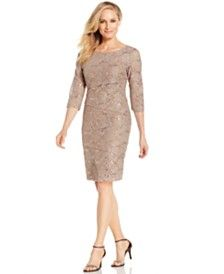 Ronni Nicole Tiered Sequin Lace Dress