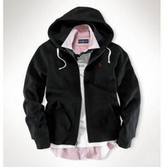 Ralph Lauren Men Black Mesh Hoody Polo Full Zip Jackets  http://www.ralph-laurenoutlet.com/