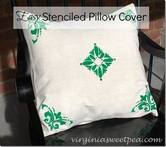 Easy Stenciled Pillo