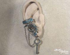 Frozen steampunk ear cuff by bodaszilvia