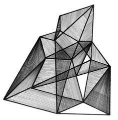 Com geometries paper/wire art/design скульптура, д Geometric Art, Geometric Designs, Math Art, Italian Artist, Grafik Design, Wire Art, Illustrations, Installation Art, Textures Patterns