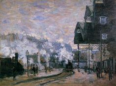 Monet -Station St Lazare- 1877 http://jpdubs.hautetfort.com/archive/2012/10/31/impressionnisme.html