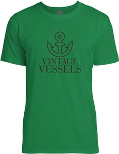 Vintage Vessels Anchor (Brown) Mens Fine Jersey T-Shirt