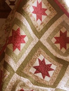 cottage star  I love everything about this quilt, just gorgeous