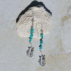 Sleeping Beauty Turquoise earrings southwest by KarmaKittyJewelry