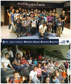 #SomosRayados con Nuestros Niños del Municipio de #Monterrey quienes vivieron hoy la #ExperienciaRayadaCocaCola. #ESR