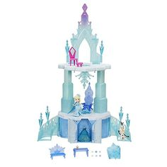 Just like Elsa in Frozen, your little one can soon wave their hands and watch their ice castle rise a full . Elsa Outfit, Ice Castles, Disney Frozen Elsa, Wooden Dollhouse, Snow Queen, Olaf, Little Princess, Kids Playing, The Dreamers