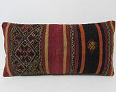 12x24 handiwork kilim pillow striped throw pillow kilim pillow kilim floor cushion chair cushion cover shabby chic decor lumbar pillow 26555