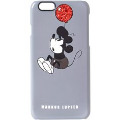Markus Lupfer Grey Baloon Mickey Mouse iPhone 6 Case ($47) ❤ liked on Polyvore featuring accessories, tech accessories, phone cases, markus lupfer and comic book