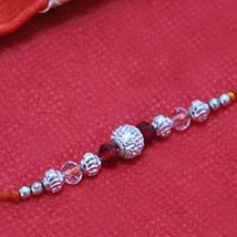 Aesthetic Silver Beads Rakhi