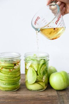 pickled green tomatoes.