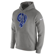 4bac1537f Nike Club (NFL Rams) Men s Fleece Pullover Hoodie Size 2XL (Dark Grey  Heather