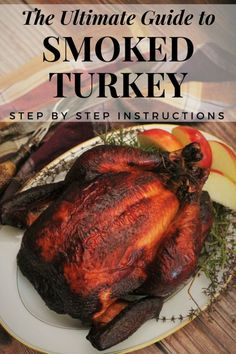 Hopefully you've had the opportunity to try the tender delicacy that is the perfect smoked turkey. If not, let's make this smoked turkey recipe happen this year! This post will teach you the ins and outs to create a juicy smoked turkey at home! Traeger Recipes, Smoked Meat Recipes, Grilling Recipes, Barbecue Recipes, Smoker Turkey Recipes, Chicken Recipes, Grilling Ideas, Venison Recipes, Rib Recipes