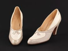 Pumps  Spanish  ca.1956  Leather