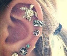 I have quite a few ear piercings - I would like to fill them with small earrings.