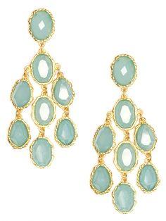 blue stone earrings / baublebar