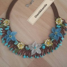Necklaces – Most Beautiful Necklaces Tassel Necklace, Crochet Necklace, Colar Fashion, Cacao Powder, Needle Lace, Some Image, Artisanal, Beaded Jewelry, Diy And Crafts