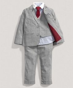 Boys Grey Check Five Piece Blazer Set - Special Occasion - Mamas & Papas